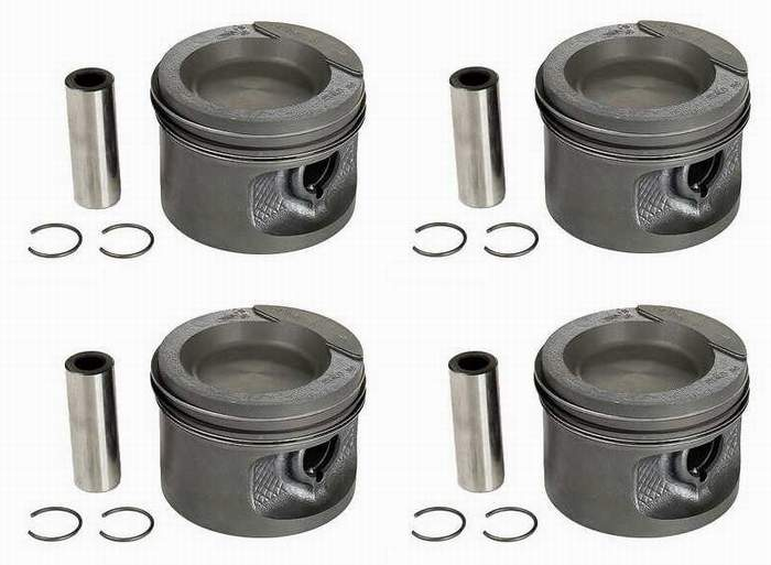 Piston Set 1.8 8v 81.5mm 8.5-1 CR (+.5mm oversized) German