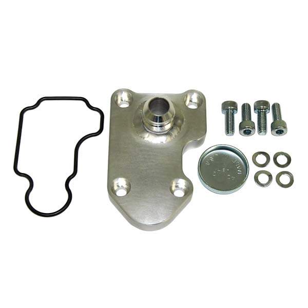 Breather Plate with -12AN Fitting for ABA, Late 16V & AEB 1.8T