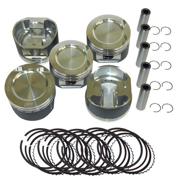 Forged Turbo/Supercharged 5 cyl. 20V Piston Set 81mm 8:1