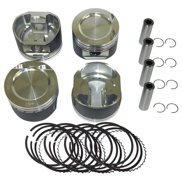 Forged Turbo/Supercharged 16v 1.8L Piston Set 81mm 8-1
