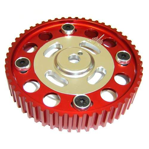 TT Light weight Aluminum Adjustable Camshaft Sprocket 16v and early 1.8T Red