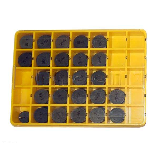 Valve shim kit (125 Shims In Yellow Box)
