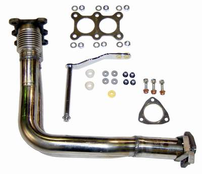 Mk1 Stainless Dual Downpipe Tall Block Engine (fits Mk2/Mk3 exhaust manifold and 253 150 cat)