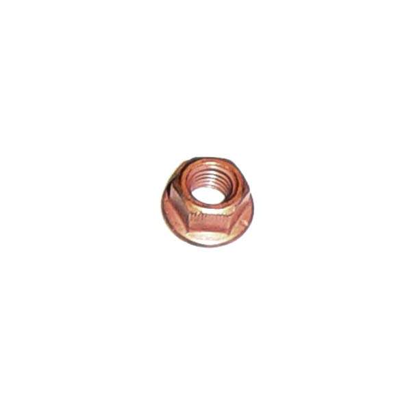 Exhaust nuts 8mm copper plated locking ea.