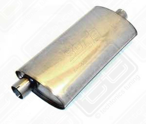 "Borla Stainless Muffler Center/Offset 2.25"" Scirocco 16v, Passat"
