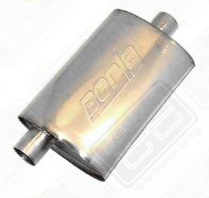 "Borla Stainless Muffler Center/Offset 2.25"" Scirocco 8v, Cabriol"