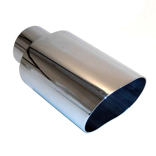 "Stainless Oval Exhaust Tip (5.5"" x 2.25"") Clamp-on"
