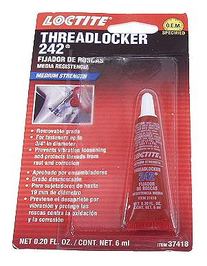 Loctite Threadlocker 242 Blue Medium Strenght (.20 fl oz / 6ml)