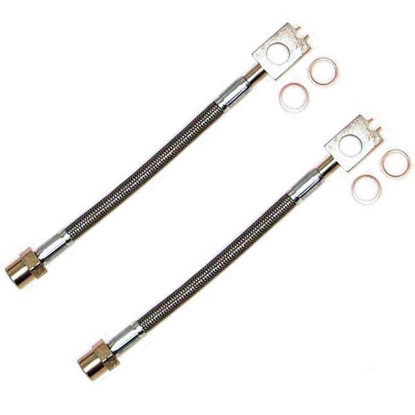 DOT Kevlar/Stainless Steel REAR Brake Lines Mk2-Mk3 w/Mk4 Alum.