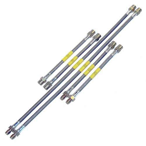 DOT Kevlar Stainless Steel Brake Lines Mk3 2.0 w/rear disc, 94-95 VR6 and 92-up Corrado