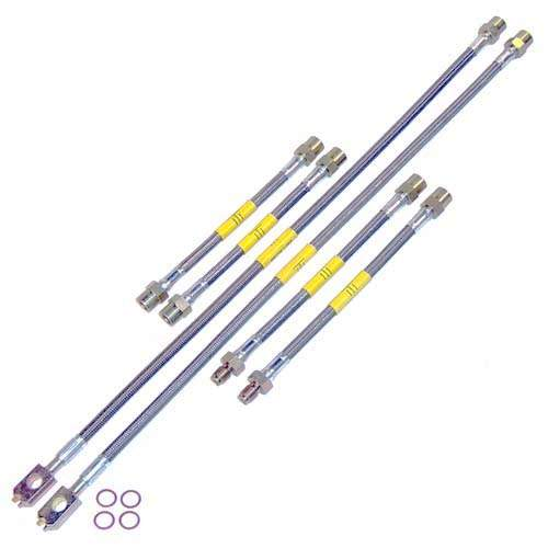 DOT Kevlar Stainless Steel Brake Lines, Mk3 VR6 96-early99