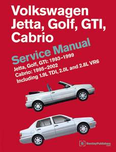 Bentley Manual '93-'99 Golf Jetta '95-'02 Cabrio 2.0L, TDI
