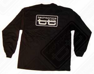 TT Long Sleeve T-Shirt (Black w/White Print) -Large