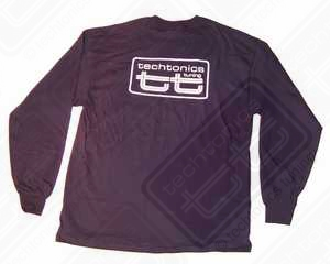 TT Long Sleeve T-Shirt (Navy Blue w/White Print) -XL