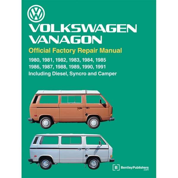 Bentley Repair Manual 1980-1991 Vanagon