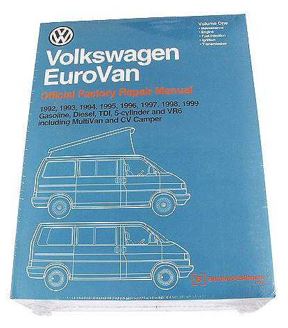 Bentley VW EuroVan Repair Manual Set \'92-\'99