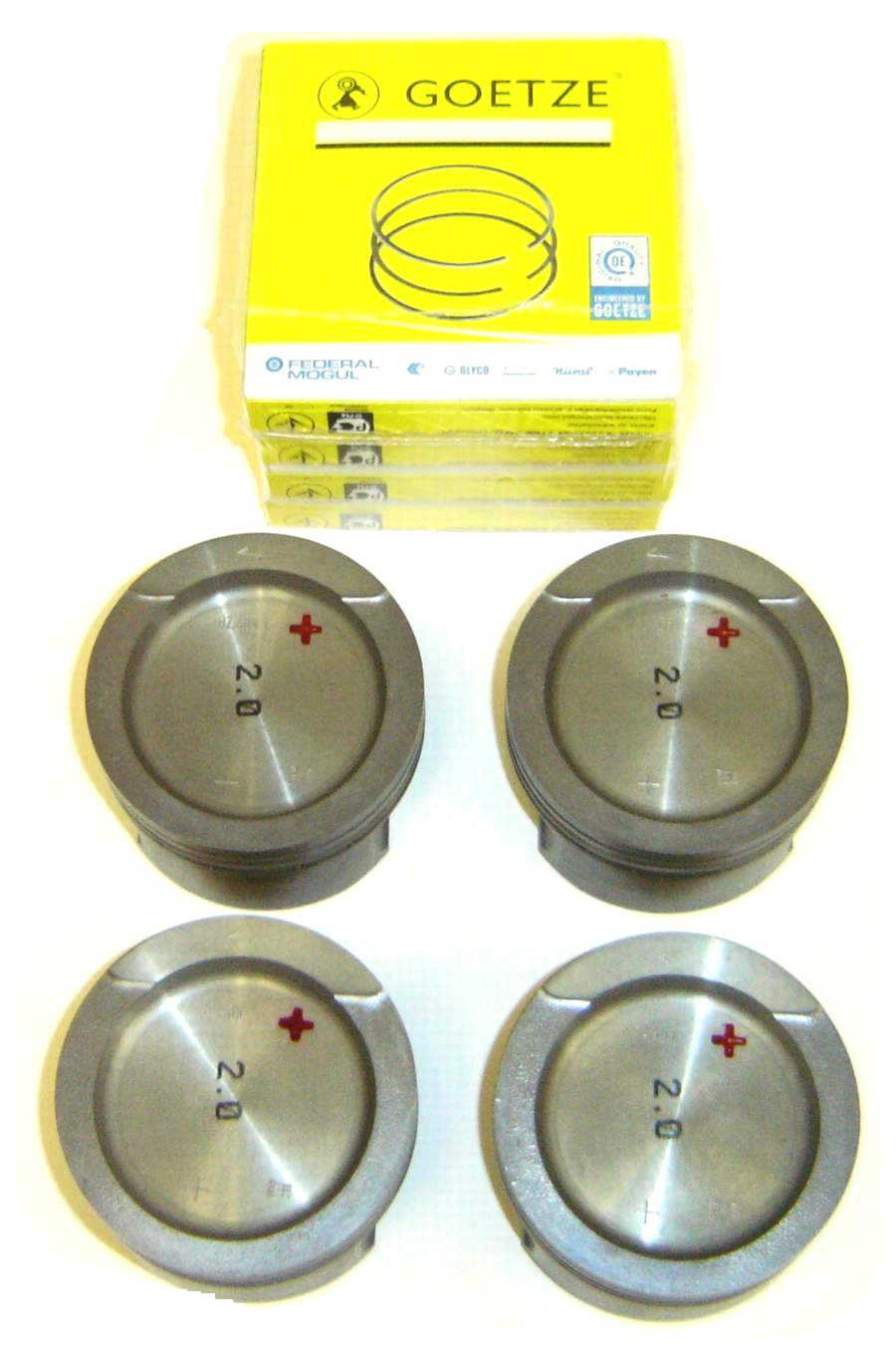 OEM Std Bore (82.5mm) ABA Pistons w/Goetze rings